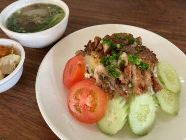 おすすめカンボジア料理③バーイサイッチュルーク|朝ご飯の定番炭火焼きの豚肉ご飯をご紹介!