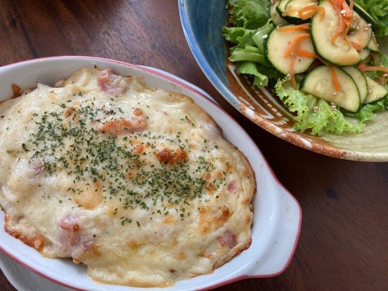チキンドリア ズッキーニのサラダ