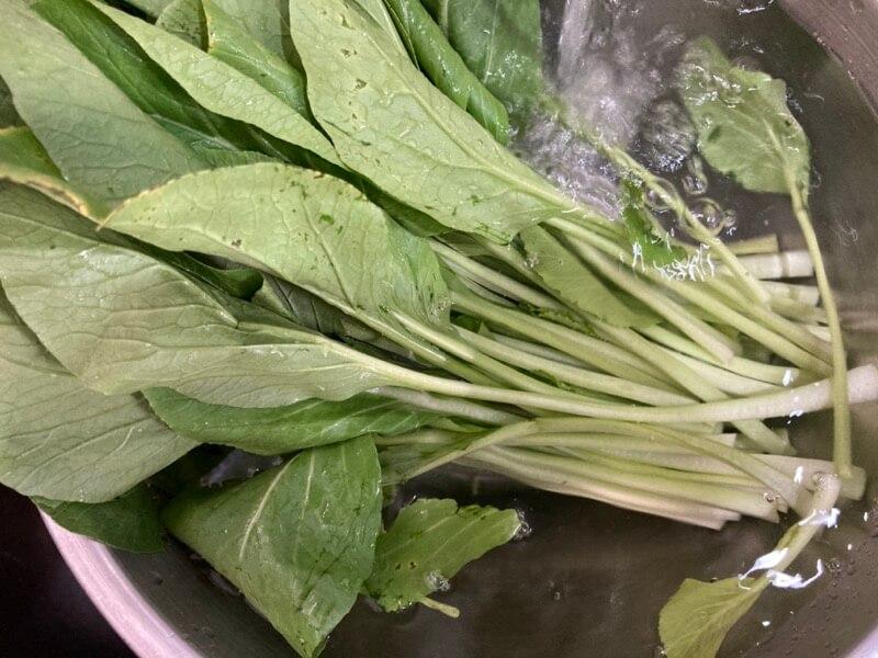 小松菜 洗う
